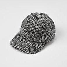 画像1: WASHABLE TWEED CAP(ウォッシャブルツイードキャップ)SE473 ブラック (1)