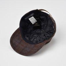 画像4: CHECK CORDUROY CAP(チェックコーデュロイキャップ)SE491 ブラウン (4)