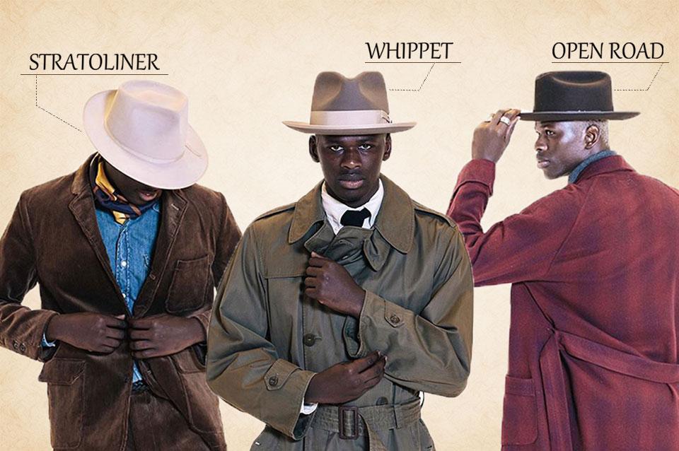 ステットソンの帽子の代名詞。ウィペット、オープンロード、ストラトライナーを紹介!