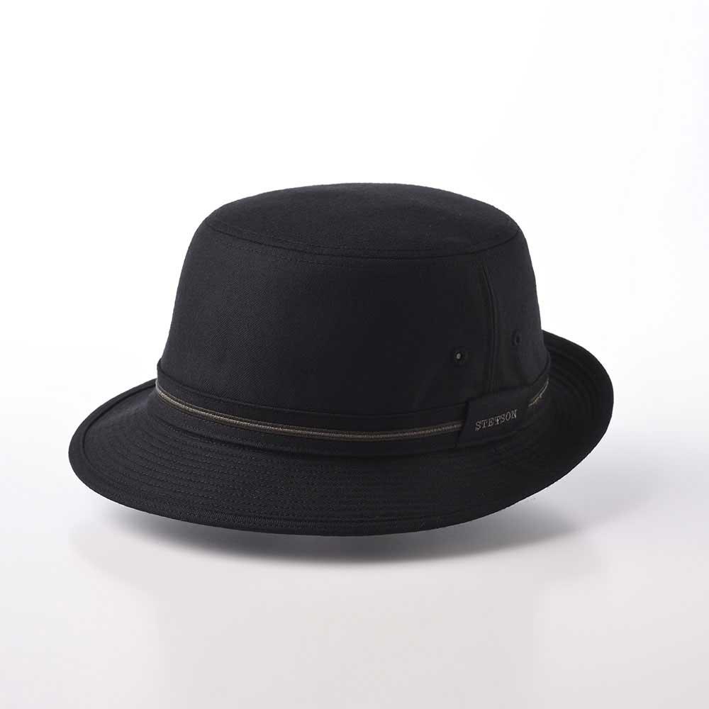 画像1: WOOL ALPEN HAT(ウールアルペンハット)SE124 ブラック (1)