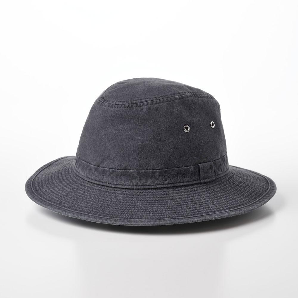 画像1: COTTON SAFARI HAT(コットンサファリハット)SE580 ブラック (1)