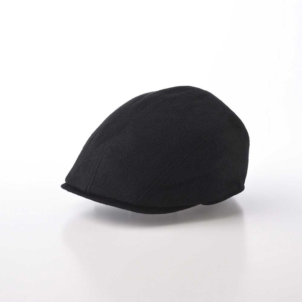 画像1: CASHMERE HUNTING(カシミヤ ハンチング)SE631 ブラック (1)