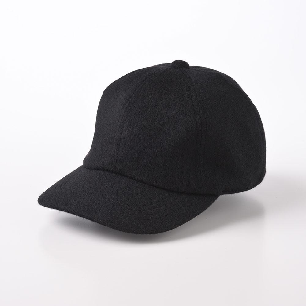 画像1: CASHMERE CAP(カシミヤ キャップ)SE635 ブラック (1)