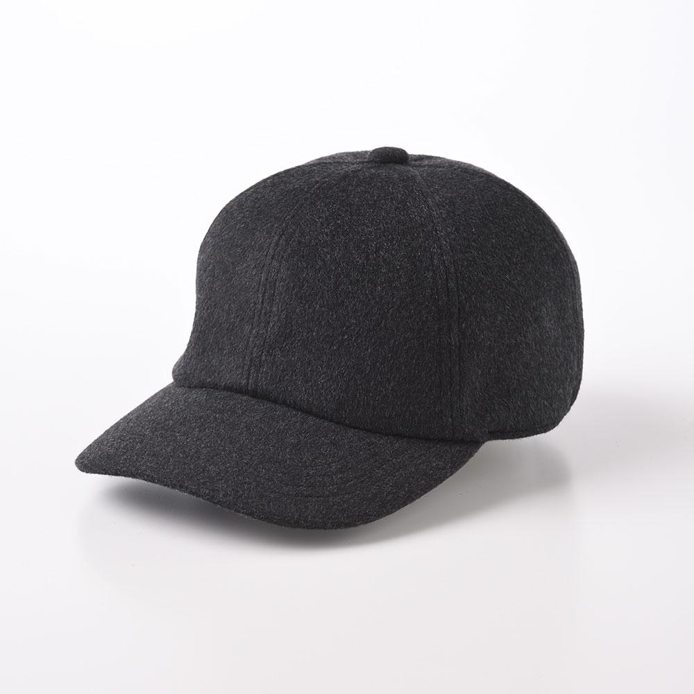 画像1: CASHMERE CAP(カシミヤ キャップ)SE635 チャコールグレー (1)