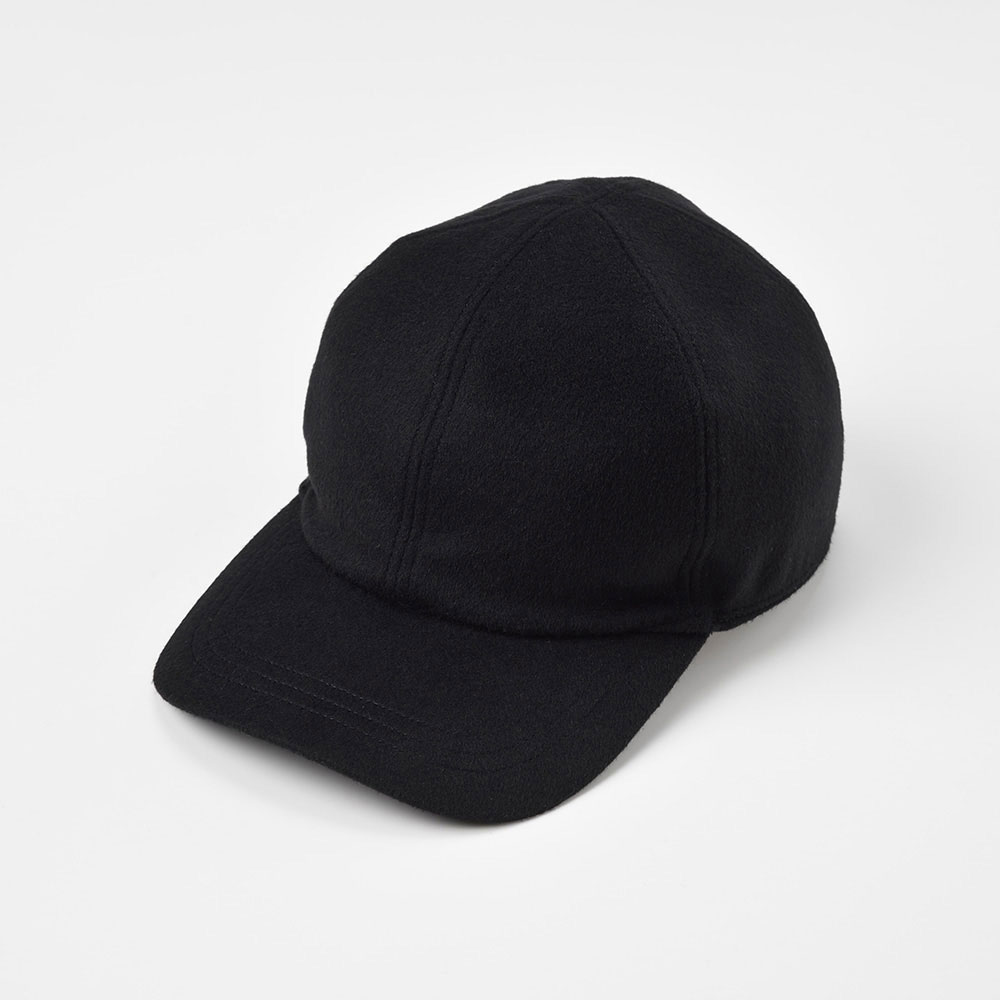 画像1: CASHMERE MIX CAP(カシミヤミックスキャップ)SE486 ブラック (1)