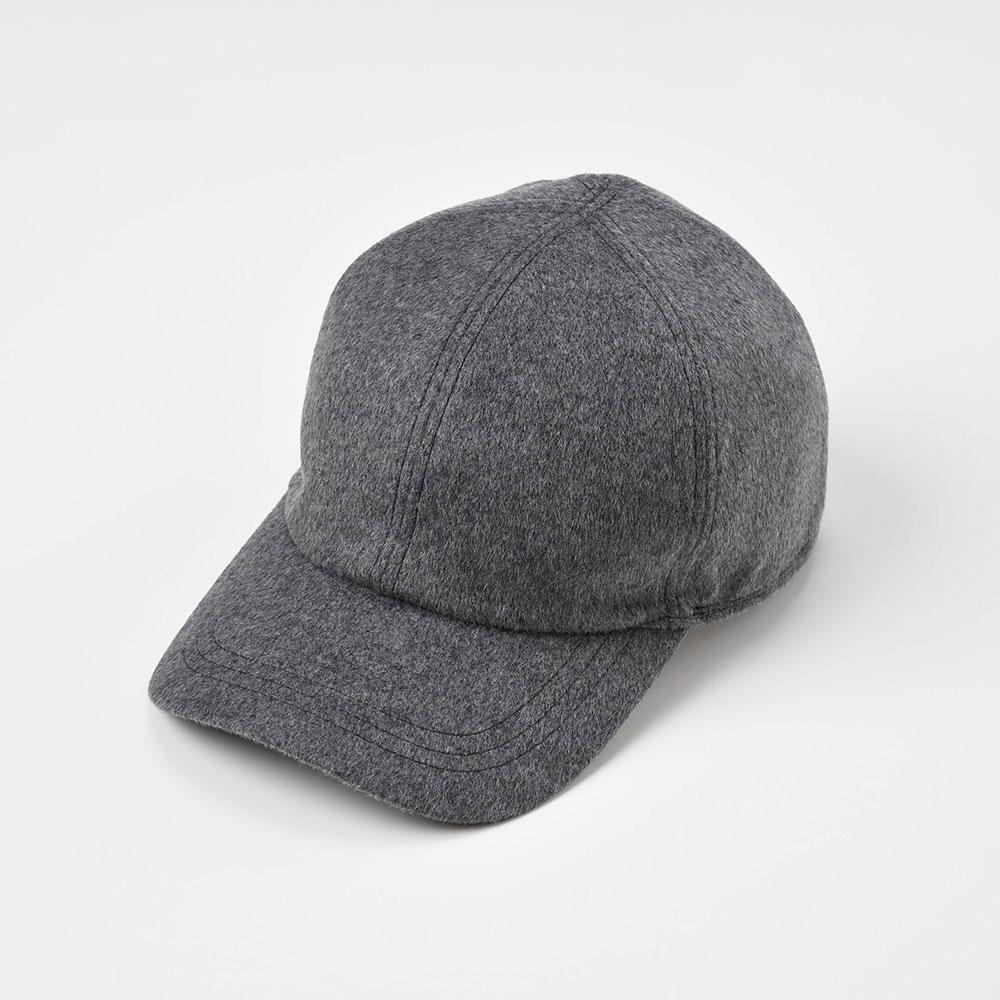 画像1: CASHMERE MIX CAP(カシミヤミックスキャップ)SE486 グレー (1)