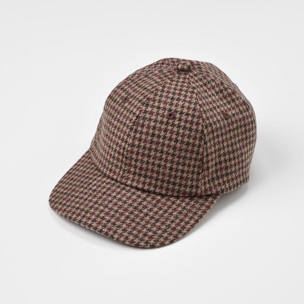 画像1: WASHABLE TWEED CAP(ウォッシャブルツイードキャップ)SE473 ブラウン (1)