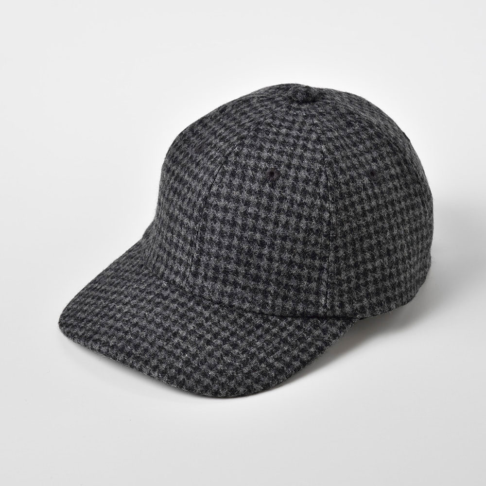 画像1: WASHABLE TWEED CAP(ウォッシャブルツイードキャップ)SE473 チャコールグレー (1)