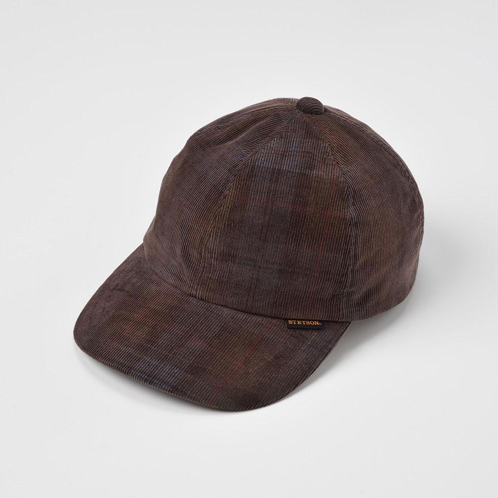 画像1: CHECK CORDUROY CAP(チェックコーデュロイキャップ)SE491 ブラウン (1)