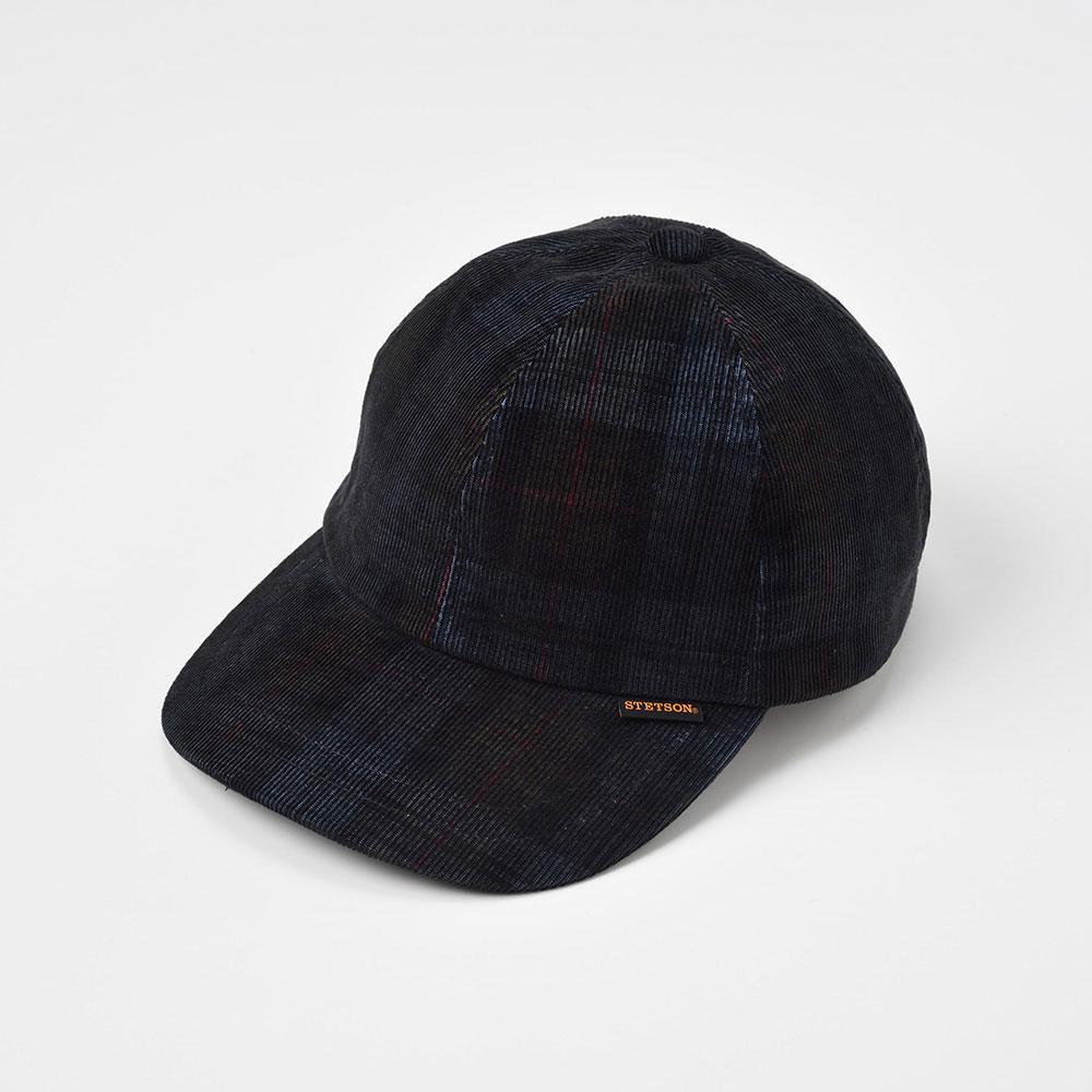 画像1: CHECK CORDUROY CAP(チェックコーデュロイキャップ)SE491 ネイビー (1)