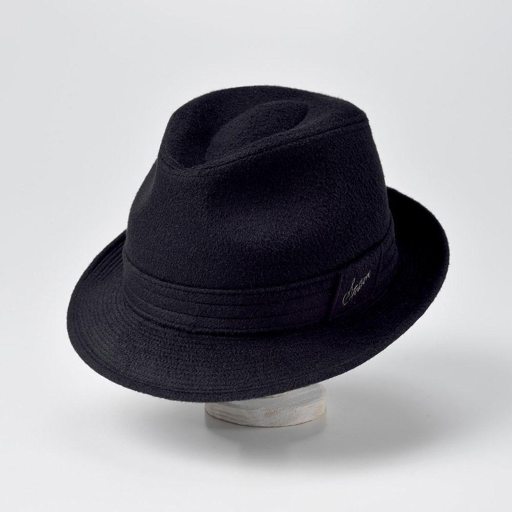 画像1: CASHMERE MIX HAT(カシミヤミックスハット)SE132 ブラック (1)