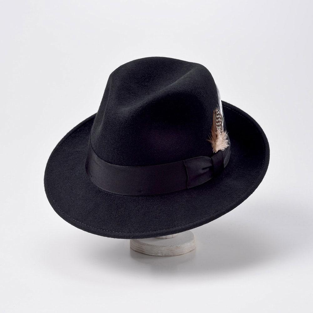 画像1: CRUSHABLE WOOL HAT(クラッシャブルウールハット)SE217 ブラック (1)