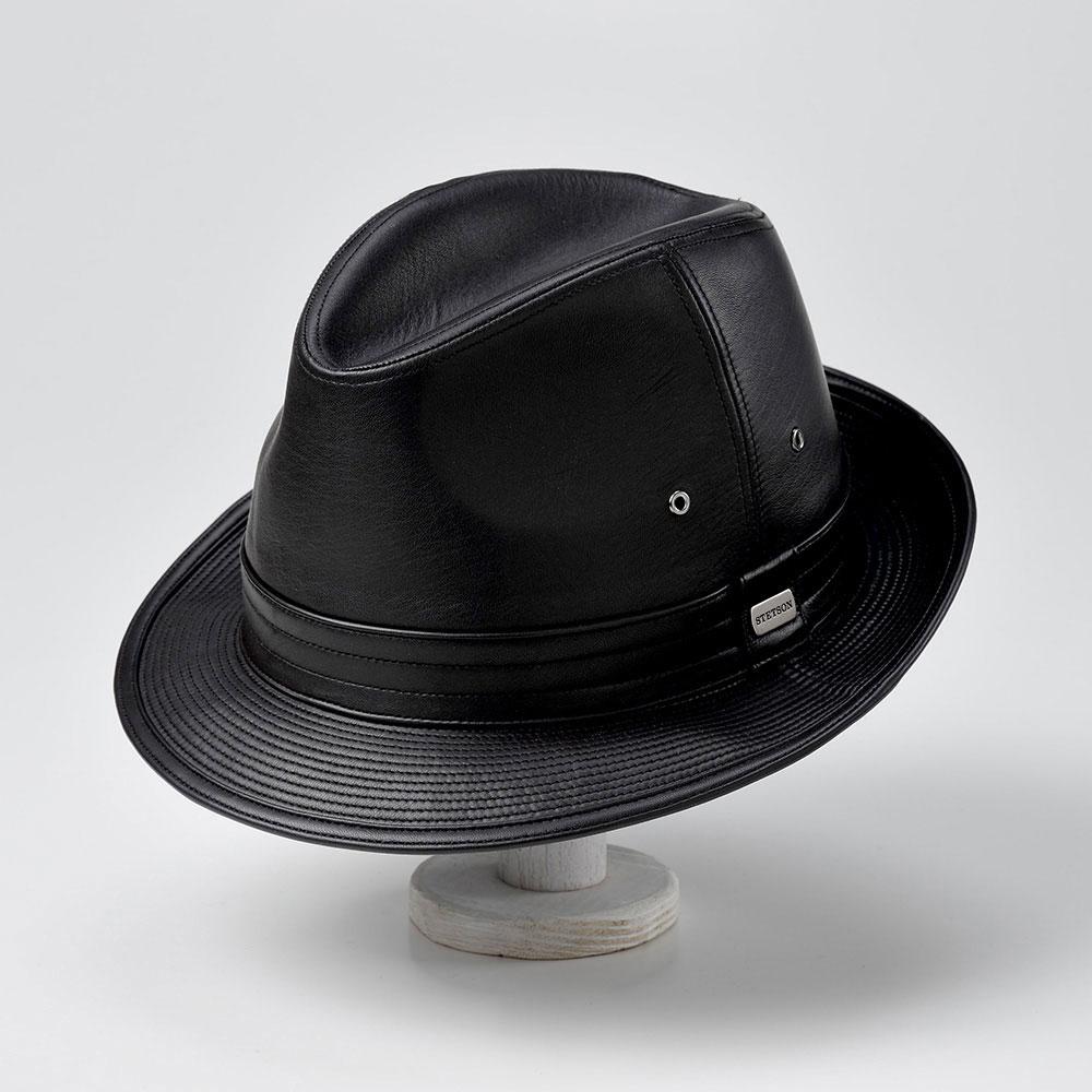 画像1: LEATHER HAT(レザーハット)SE150 ブラック (1)