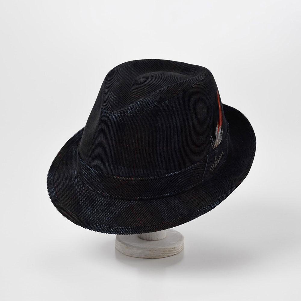 画像1: CHECK CORDUROY HAT(チェックコーデュロイハット)SE490 ネイビー (1)